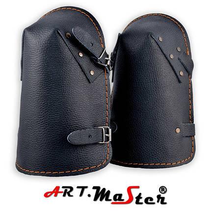 Кожаные наколенники NKS черного цвета ARTMAS, фото 2
