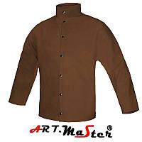 Кожаная куртка KSli коричневого цвета ARTMAS
