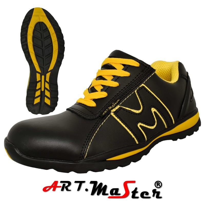 Защитные ботинки BSport 3B синего цвета с желтыми вставками ARTMAS