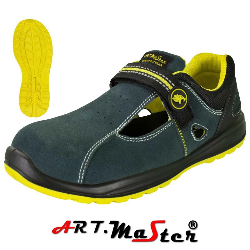 Защитные сандали BSAND 3N синего цвета с желтыми елементами ARTMAS