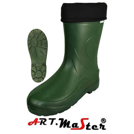 Сапоги женские из материала KAZOSZE 53011 VERONA зеленого цвета EVA ARTMAS, фото 2