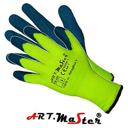 Утепленные рабочие перчатки RdragBlue Y kat 1 покрытые латексом ARTMAS, фото 2