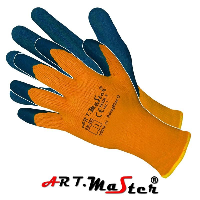 Утепленные рабочие перчатки RdragBlue O kat 1 покрытые латексом ARTMAS