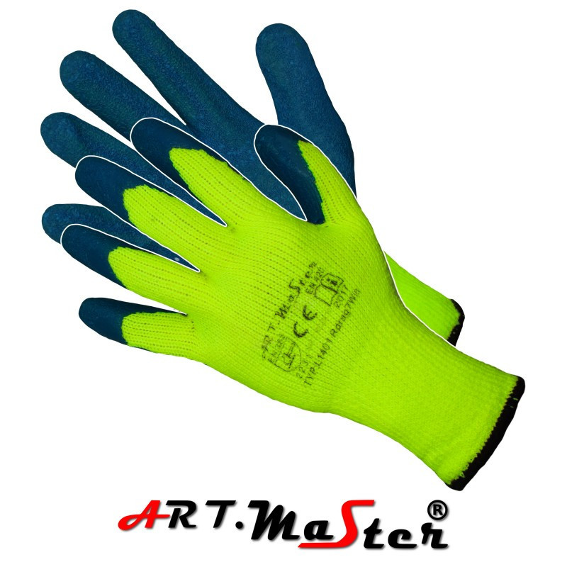 Утепленные рабочие перчатки Rdrag7Win kat. II покрытые латексом ARTMAS