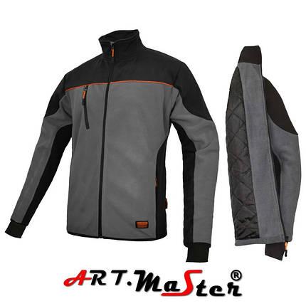 Флисовая куртка CLASPRO+PIK Kurtka polarowa grey серого цвета ARTMAS, фото 2