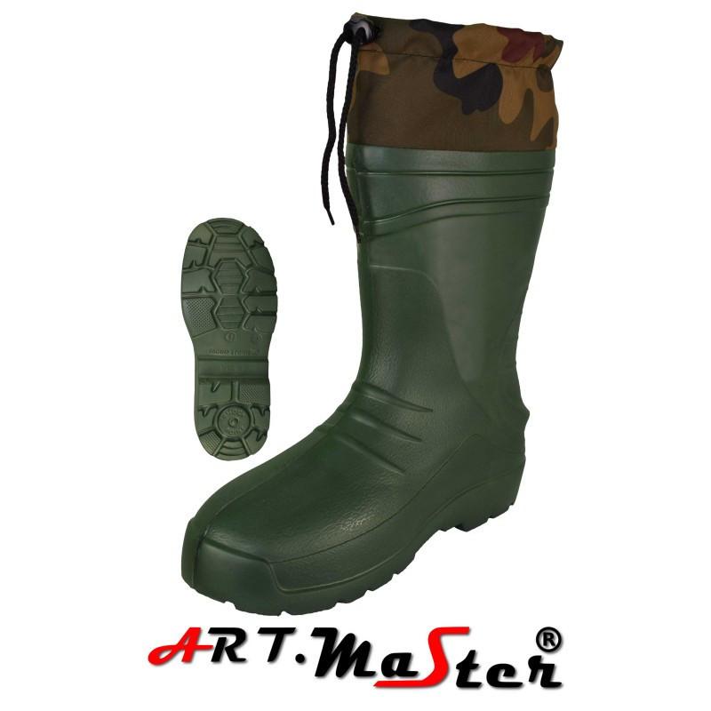 Легкие сапоги из материала Kalosze 56013 TORINO kołnierz зеленого цвета EVA ARTMAS 46