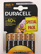 Батарейка Duracell LR03 блистар  ( 1x6 шт )
