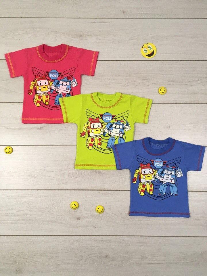 Детская футболка Поли Робокар Размер 86 - 92 см