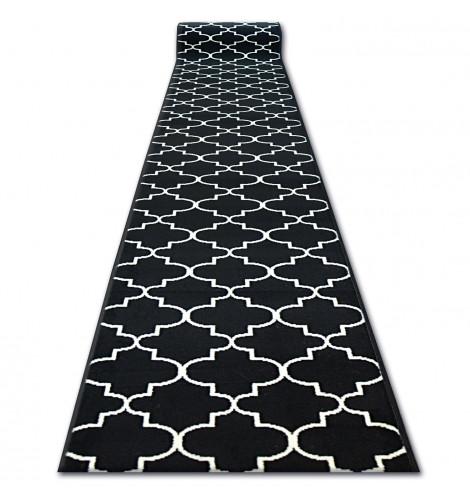 Ковер Лущув BCF Base 90x100 см черный прямоугольный (Q2097)