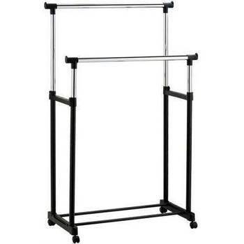 Вешалка-стойка для одежды Double Bar Rack Hight Ajustable, напольная, двойная, телескопическая (30 кг)