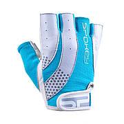 Перчатки для фитнеса женские Spokey ZOE II M Бело-голубые (s0193)