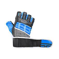 Перчатки для фитнеса мужские Spokey RAYO III XL Черно-синие (s0185), фото 2