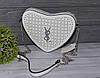 Стильная белая летняя сумка в виде сердца