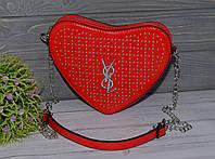 Стильная красная сумка в виде сердца, фото 1