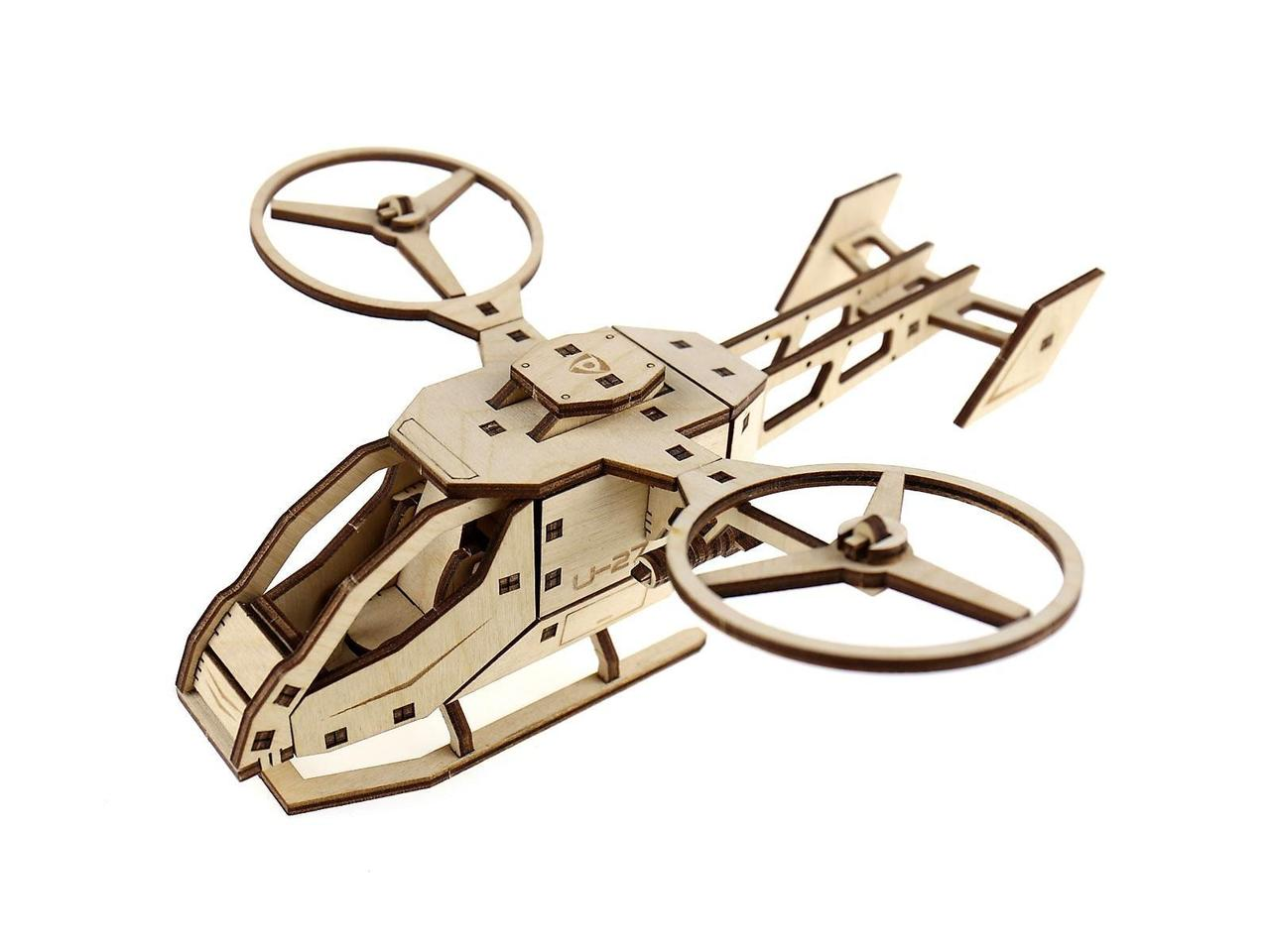Деревянный 3D-пазл Racor Вертолет U-27 63 элемента 260х250х90 (R10003)