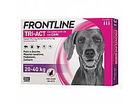 Frontline Tri-Act Капли на холку от блох, клещей и комаров для собак от 20 до 40 кг, 1 шт