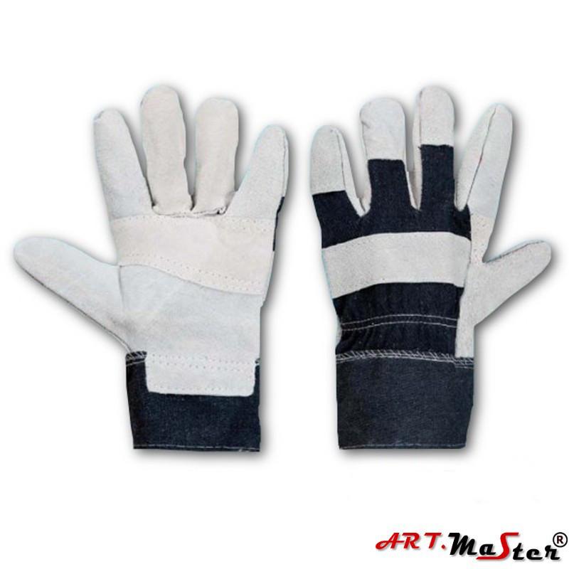 Защитные перчатки RDŁ усиленные яловой кожей ARTMAS POLAND 10