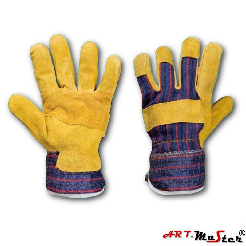 Защитные перчатки RDŻ усиленные яловой кожей ARTMAS POLAND 10
