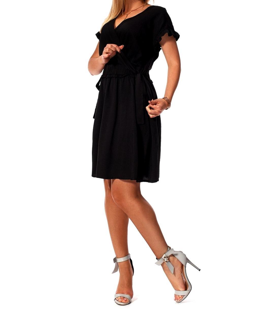 Платье коктельное молодежное в черном цвете