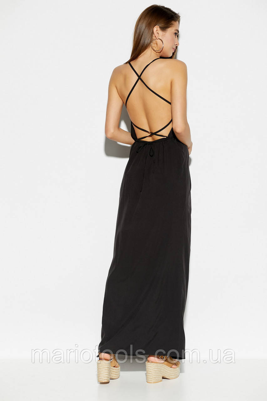 Легкое платье в пол с открытой спиной в 3 цветах!