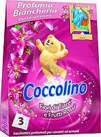 Coccolino Profuma Biancheria Fiori di Tiare e Frutti Освежитель для шкафа Цветок Тиаре и Красные фрукты 3 шт.