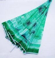 Парасолька діаметром 2 м. Срібне покриття з ухилом. Пальма, фон Зелений