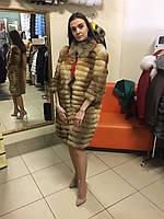 Шуба из лисы в роспуск длина 90 см.,рукав 45 см. 42рр