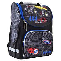 """Рюкзак шкільний каркасний ортопедичний для хлопчика PG-11 """"Speed 4*4"""", SMART"""
