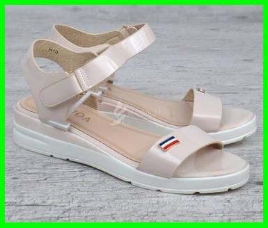 Женские Сандалии Босоножки Летняя Обувь Бежевые (размеры: 36,37), фото 2