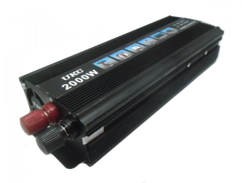 Инвертор преобразователь напряжения UKC 12-220 V 2000 W Черный (hub_np2_1126)