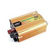 Инвертор преобразователь напряжения UKC 24-220 V 500 W Золотистый (hub_np2_1130)