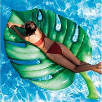 """Матрас надувной пляжный """"Пальмовый лист""""  213х142см,   INTEX   58782"""