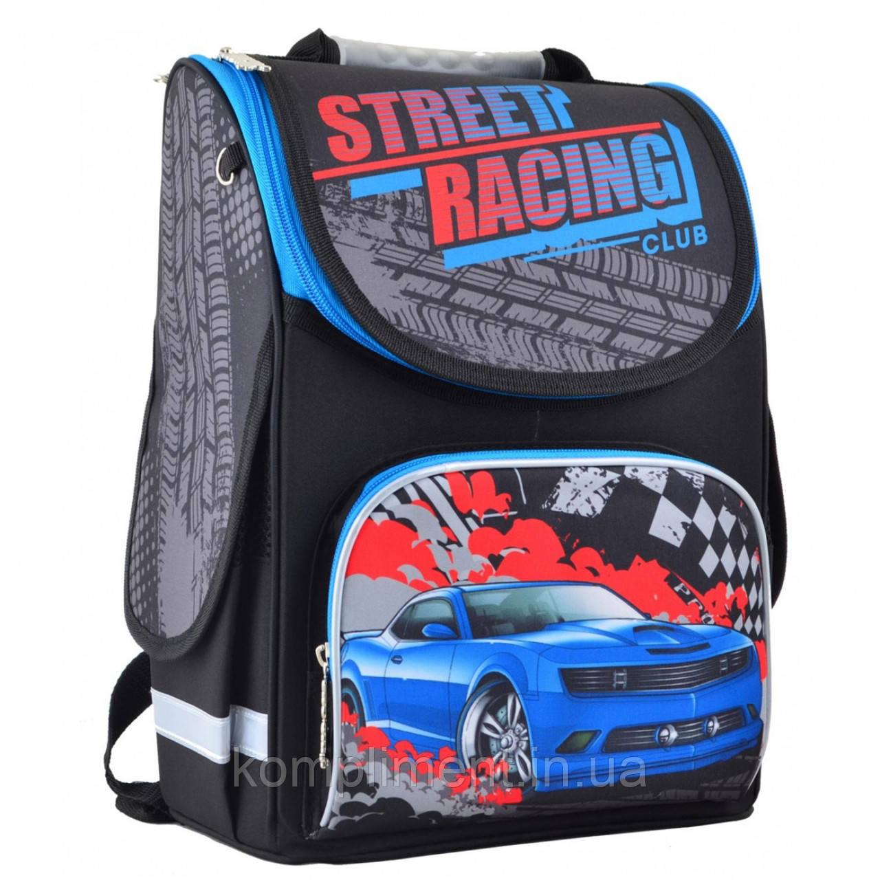 """Рюкзак шкільний каркасний ортопедичний для хлопчика PG-11 """"Street racing"""", SMART"""