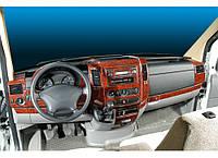 Накладки на панель Mercedes Sprinter W906 (Meric, 40 деталей)