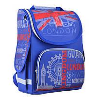 Рюкзак шкільний каркасний ортопедичний для хлопчика PG-11 London, 34*26*14, SMART