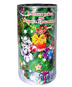 Пластиковый новогодний тубус Игрушки оптом от 40шт, 110*200мм