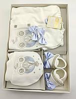 Подарочный набор костюм 0 до 4 месяцев Турция для новорожденных набор на выписку крещение, фото 1