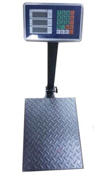 Весы торговые электронные напольные CRYSTAL на 300 кг усиленные с прочным стальным корпусом (5550099