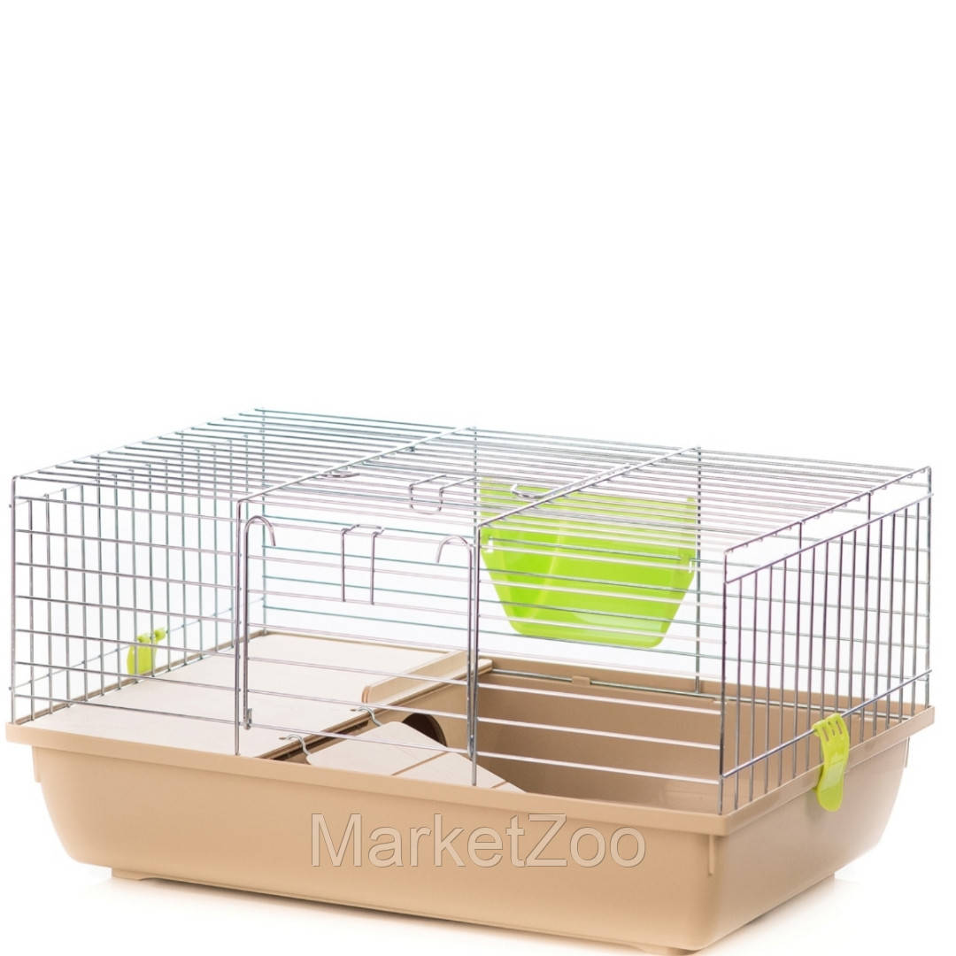 """Клетка для кролика или морской свинки Super Rabbit 80 zinc,""""Interzoo""""-78см*48см*34см"""