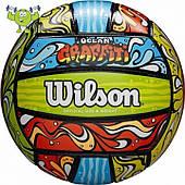 Мяч волейбольный пляжный из искуственной кожи Wilson Ocean Graffiti SS19 (WTH40119XB)