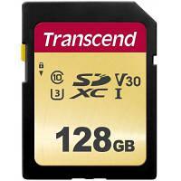 Карта памяти Transcend 128GB SDXC class 10 UHS-I (TS128GSDC500S)