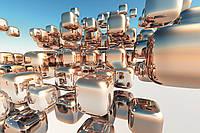Фотообои флизелиновые 3D Фигуры 375х250 см Серебряные кубики (MS-5-0284)