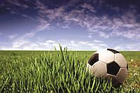 Фотообои флизелиновые 3D Футбол 375х250 см Мяч на поле (MS-5-0305)