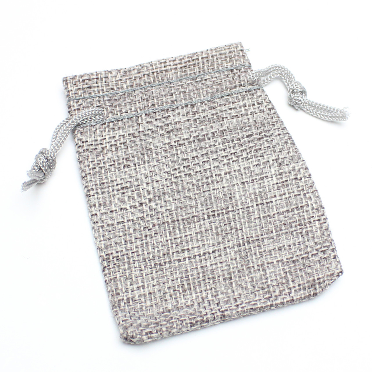 Мешок тканевый лен серый 7/9 см