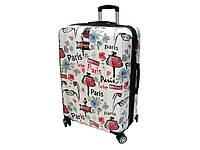 Поликарбонатный чемодан большого размера на 4-х колесах. Airtex 960 Love