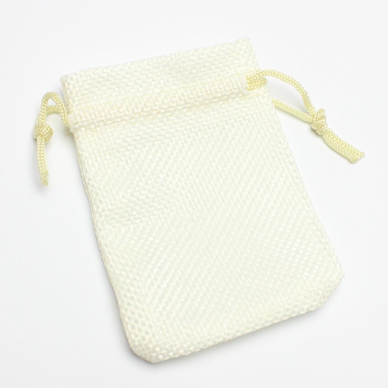 Мешок тканевый лен белый  7/9 см