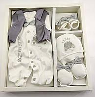 Набор для новорожденных 0-3 месяцев подарок 5 предметов (НП50)