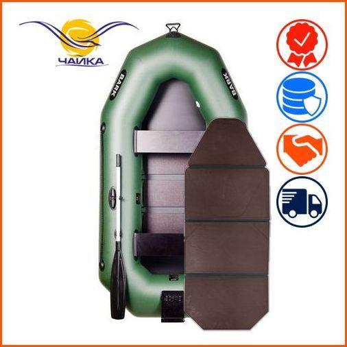 Лодка Bark B-250KN. Гребная, 2,50м, 2 места, 850/950 ПВХ, стационарные сиденья, сплошное днище, навесной транец. Надувная лодка ПВХ Барк Б-250КН;