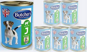 Butchers dog Junior 400 г * 4 шт - консерва для щенков ( разные вкусы)