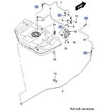 Фиксатор топливопровода к фильтру (вилочка) белый 5,16 GM, 96434270, фото 3